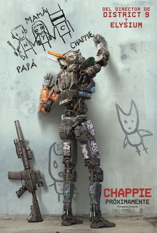 Chappie. Die Antwoord, robots and Hugh Jackman! #review #movie #chappie