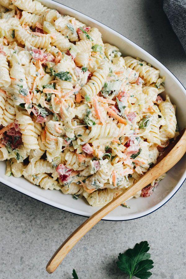 Creamy Pasta Salad Recipe Creamy Pasta Salad Recipe Recipes Creamy Pasta Salads