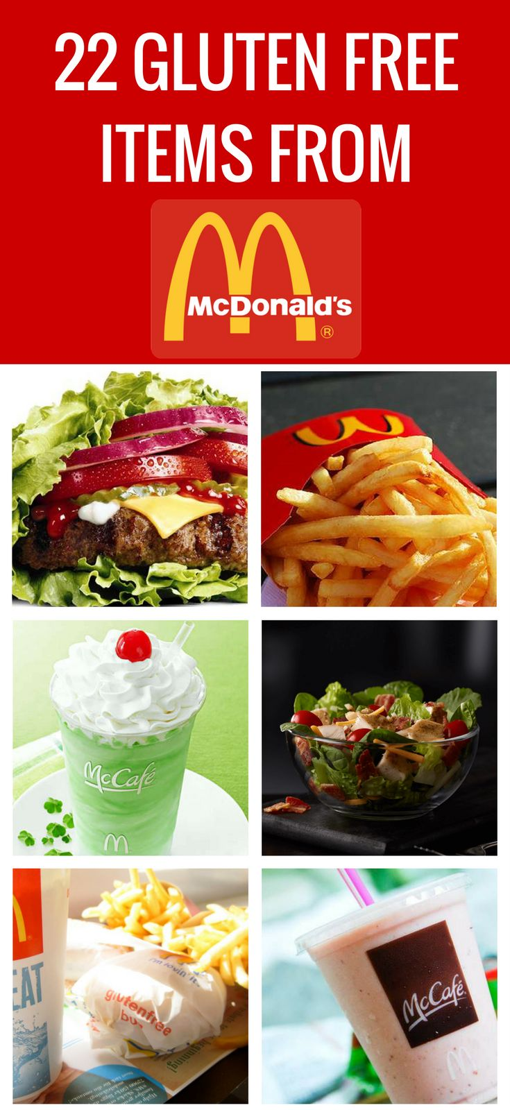 Here are the best gluten free items from McDonald's!