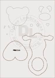 Resultado de imagem para moldes de ursinhos para imprimir