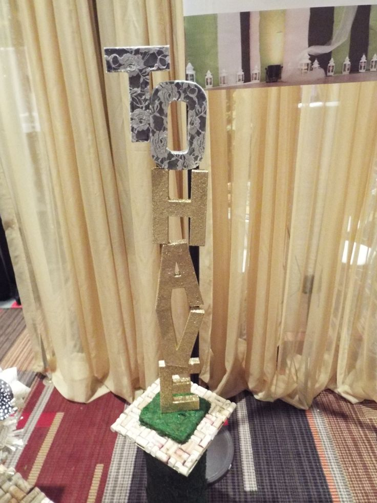 """To Have"" ""To Hold"" altar pillars by The~Lil~Things. Customize them to glittery, rustic, elegant, modern, whatever your wedding day ceremony backdrop wish!"