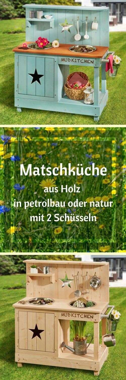 Matschküche Stern – petrolblau