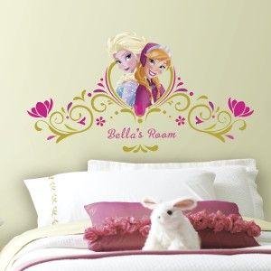 Retrouvez la Princesse Anna de la Reine des Neiges sur les murs de la chambre de vos enfants.
