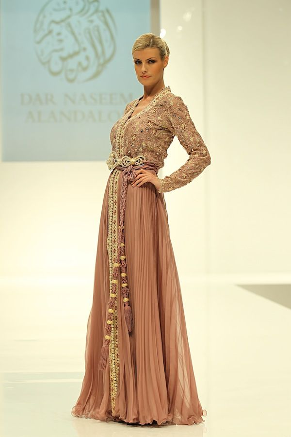 dusty pink caftan