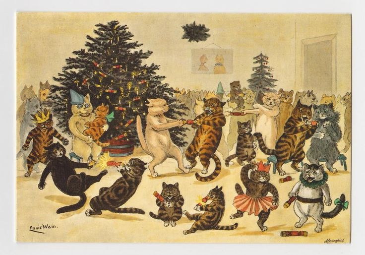 Louis Wain Cats Christmas Party