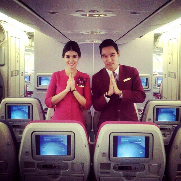 Pin on Thai Airways Cabin crew