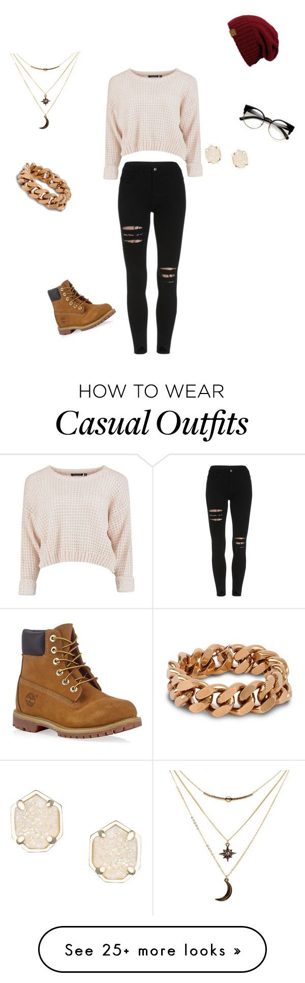 """""""Casual day out"""" by babygirldanii on Polyvore featuring Timberland, Charlotte Russe, STELLA McCARTNEY and Kendra Scott"""