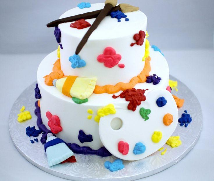 Paint theme cake