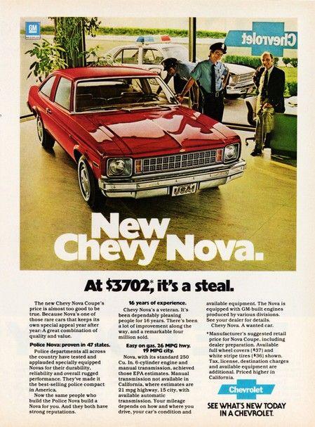 1978 chevy nova advertisements | Image of the 1978 Chevrolet Nova Coupe advertisement: New Chevy Nova ...