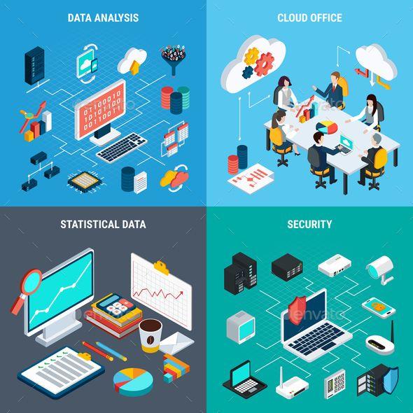 Big Data 2x2 Design Concept デザイン 雲 ネットワーク