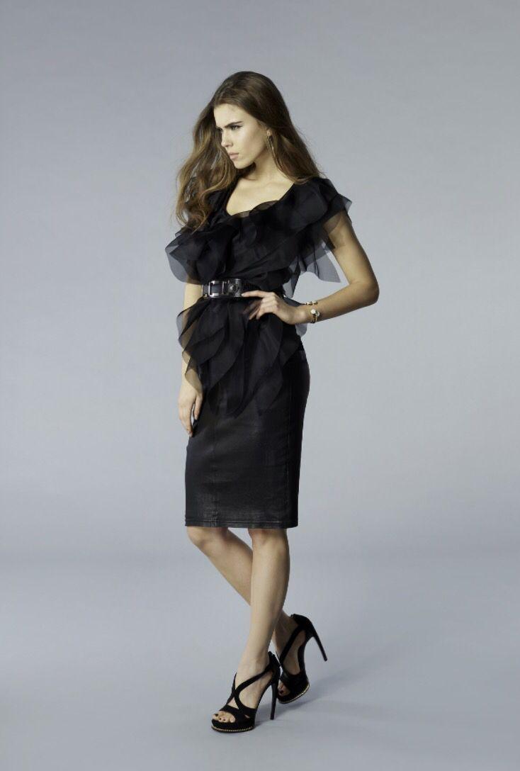 Tshirt with silk organza ruffles #JacquelinePiron #FW15 #lookbook #fashion #style