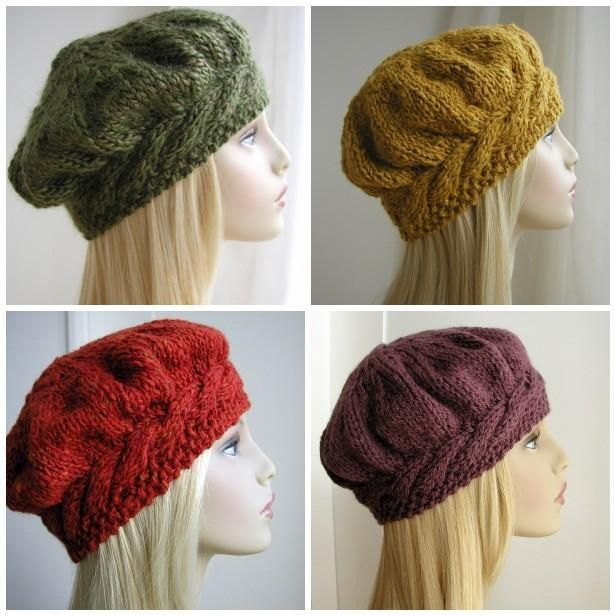 Weekend Cable Beret Pattern
