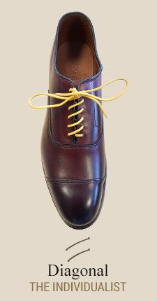 Diagonal  Learn How to Lace Your Dress Shoes with ALLEN EDMONDS  AD -   An illustrated how-to guide to our favorite lace upsTrendy, stylish, sophisticated or cool, there's more than one way to lace a shoe. Find a pattern that fits your personality