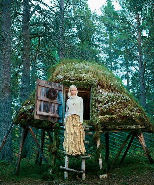 """Sweden's storybook provinces of Lapland and Gotland. """"The huts were amazing and so beautifully built. I love seeing cool design for something that is so practical—they're used as food storage buildings for the Sami people."""" —Richmond T., Anthropologie styling director"""
