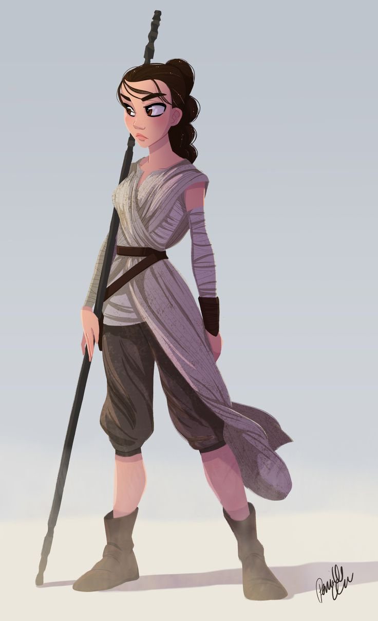 I'm very excited to see the new Star Wars. So here's a very early fan piece of Rey…