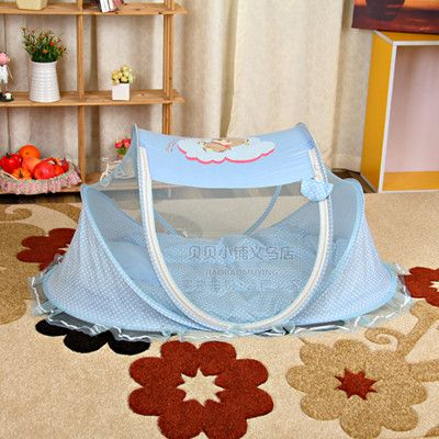 Free Shipping Baby Mosquito Net Summer Baby Infant Children Cradle Bed Netting Canopy Cushion Mattress + Pillow