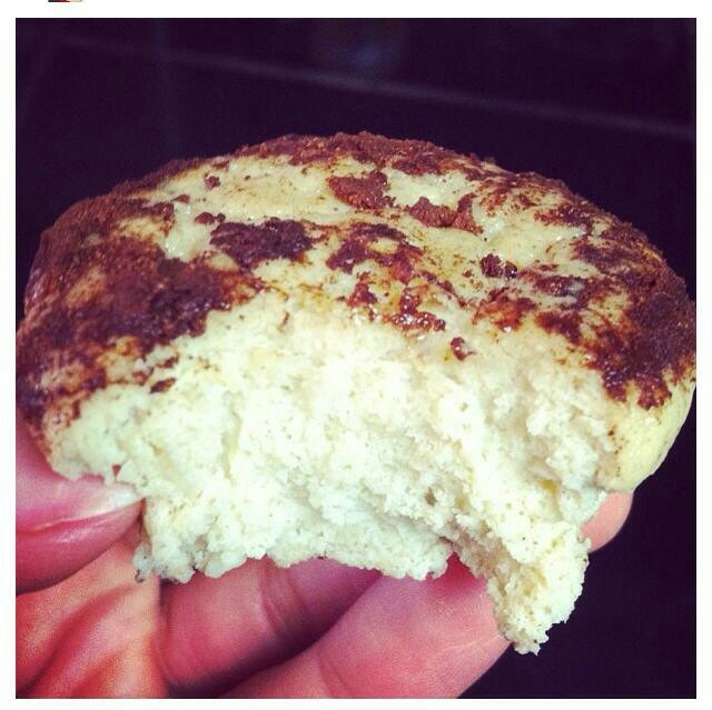 Vanilla Chai Protein muffins · 2 scoops of FitMiss Vanilla Chai protein powder· 1/2 c unsweetened almond milk· 2 eggs· 2 egg whites· 1/4 c low fat cottage cheese· 1/4 c coconut flour· 1 tsp baking powder· 1 tsp cinnamon oven to 325 degrees. Bake muffins for 20-22 minutes Topping - Mix together 1 packet of stevia, 1 tsp of cocoa powder & 1 tsp of cinnamon. Press top of each muffin into your cocoa/cinnamon/sugar mix.