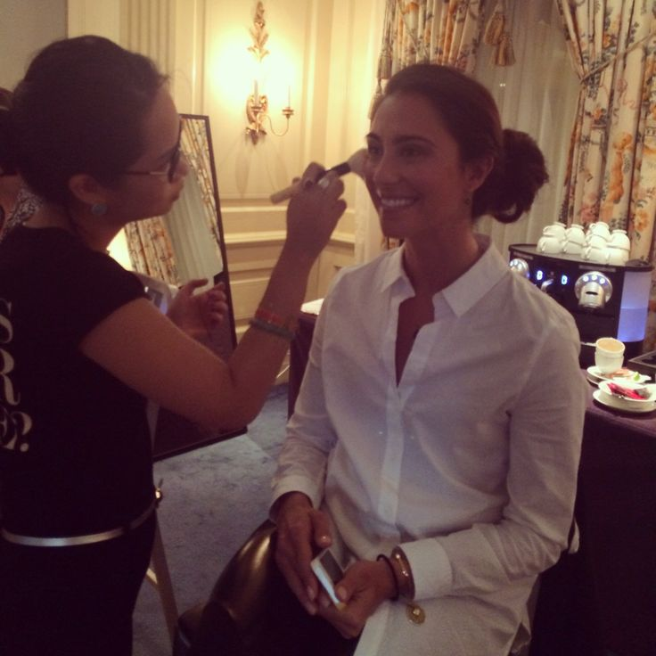 The gorgeous Jodie Fox getting made up by the amazing Bobbi Brown Australia team for tonight's Women of Style awards.