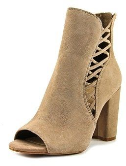 Jessica Simpson Millo Open-toe Suede Ankle Boot.