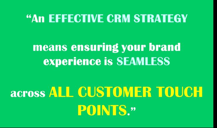 An effective #CRM strategy means ensuring your brand experience is seamless across all customer touch points - TFM&A  |      #custserv   #brand   #quote   #crm