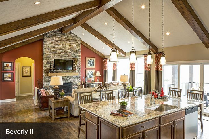 Great room pictures custom homes photo gallery for A e custom homes