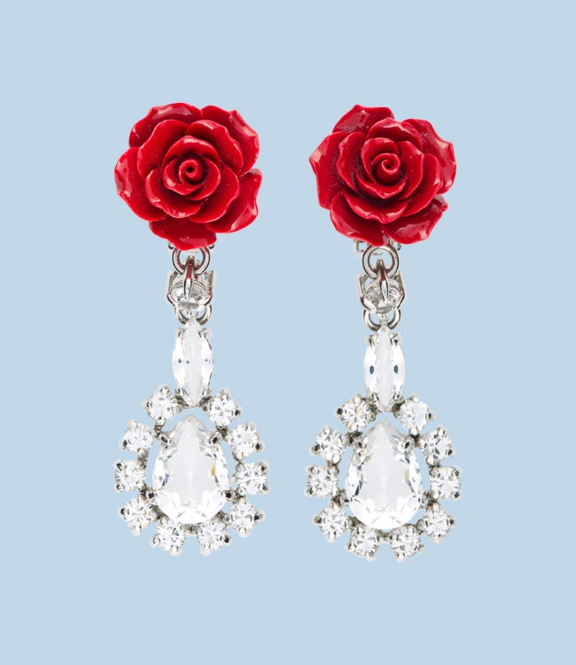 Prada; Crystal with resin rose. | Wardrobe