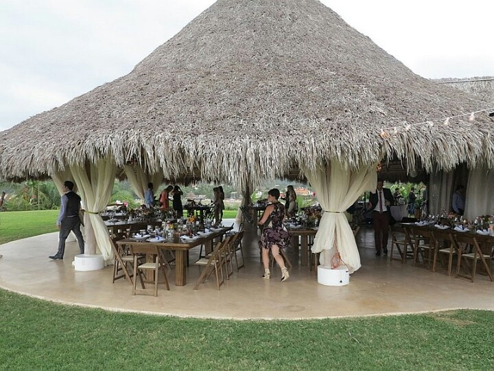 Palapa Roof Reception Wedding Reception Amp Table Styling