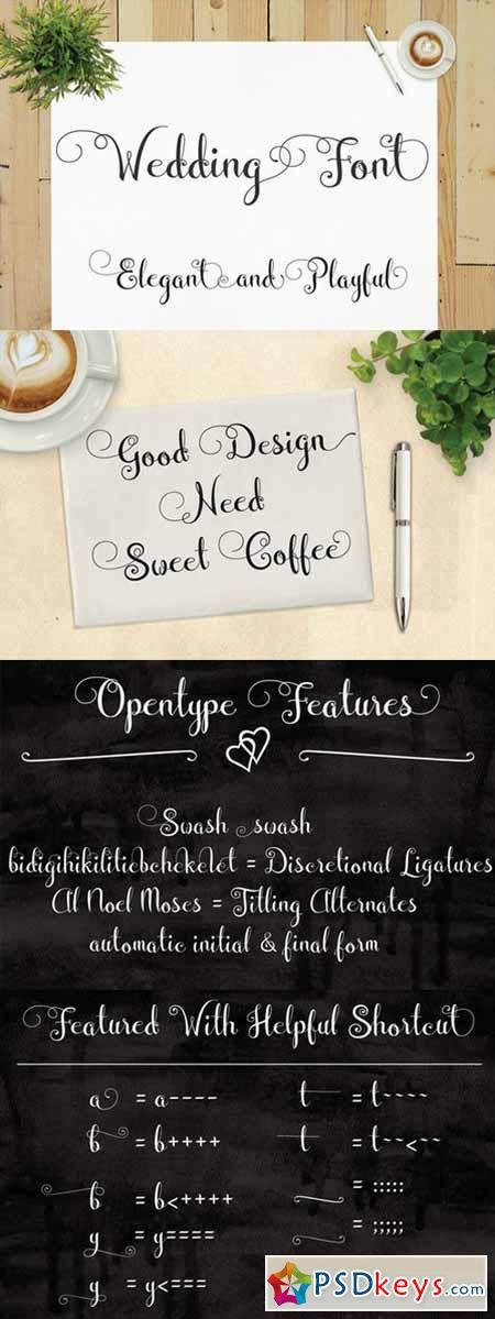 cursive fonts for wedding cards%0A Wedding Font