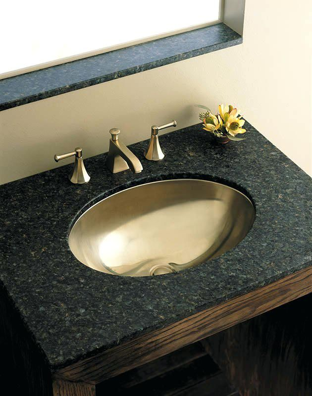 Lovely Stainless Steel Sinks Bathroom Wood Black Top Bathroom Vanity  Cabinet With Stainless Steel Oval Stainless Bathroom Sink Square Undermount  Stainless ...