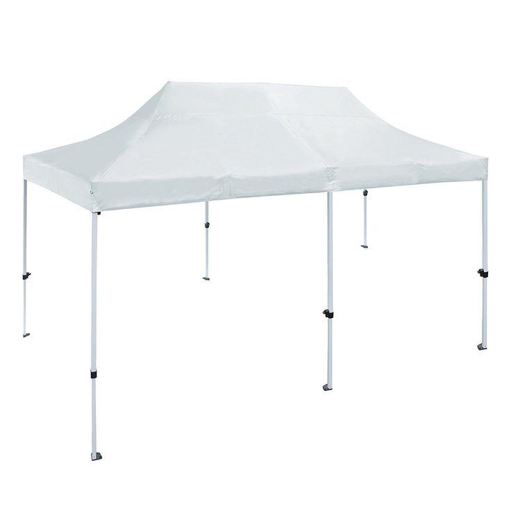 aleko 10 x 20 ft outdoor party waterproof white gazebo tent canopy white