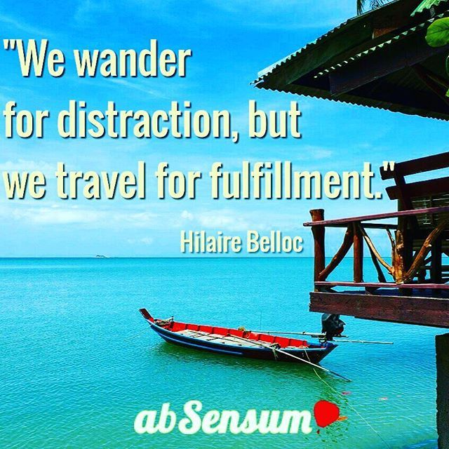 """We wander for distraction, but we travel for fulfillment."" •••••••••••••••••••••••••••••••••••••••••••••••••••••••••••••••••••••••••••••••••••••••••• ••••••••••••••••••••••••••••••••••••••••••••••••••••••••••••••••••••••••••••••••••••••••••  JOIN NOW the #EmotionalTravellers of #abSensum and discover how to #travel in an emotional way-->> https://www.facebook.com/groups/emotionaltravellers.en/"