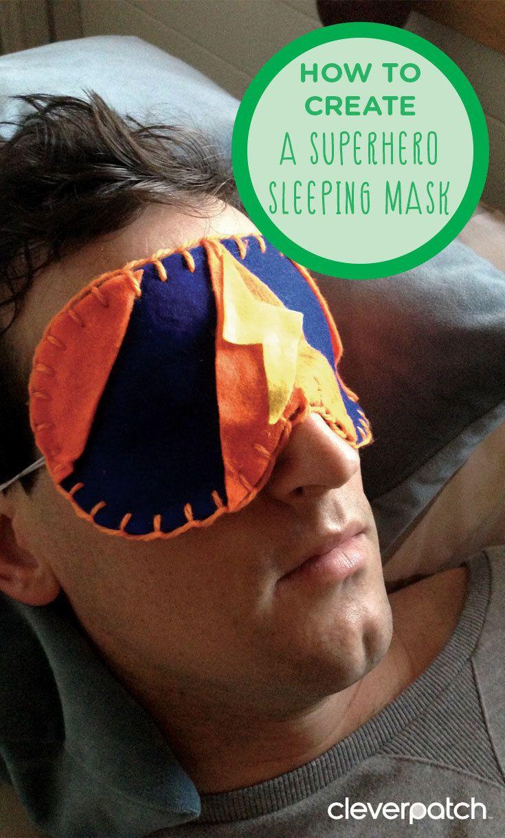 Make Dad his own superhero sleeping mask!