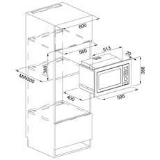 FRANKE - Forno Microonde FMW 250 CR2 G WH con Grill Capacità 25 Litri Potenza 900 Watt Colore Bianco - ePrice