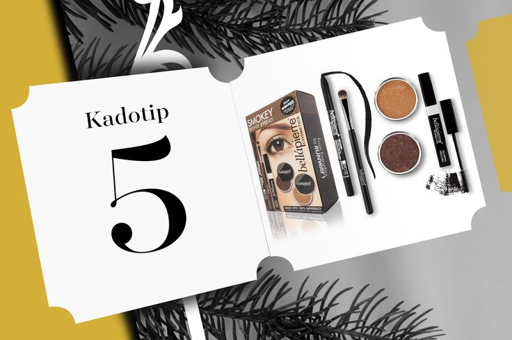 Kadotip 5! Make up pakket van Bellàpierre met alle tools voor perfecte smokey eyes. Wist je al dat de make up van Bellàpierre op basis is van mineralen en zeer hoog gepigmenteerd is? Daarom blijft deze make up lang zitten en is de intensiteit van de kleuren fantastisch