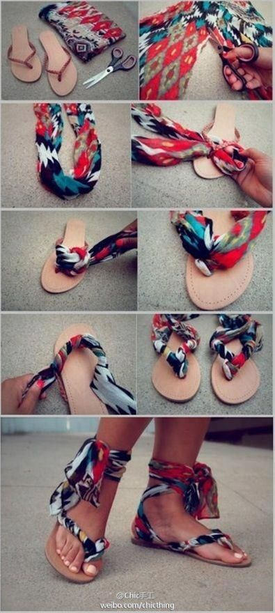Spice up the flippy floppies. - Click image to find more DIY & Crafts Pinterest pins