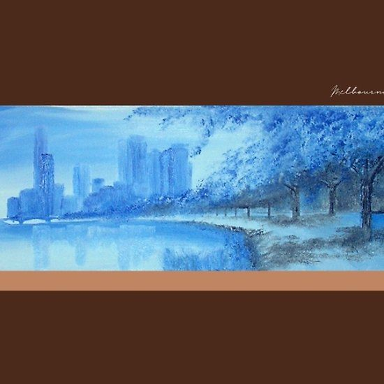 InspiaArt - Melbourne City from the Yarra River abstract