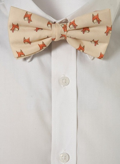 fox bowtie.: Bows Ties, Clothing, Bow Ties, Foxes Bows, Foxy Bows, Things, Accessories, Fantastic Mr Foxes, Foxes Bowties