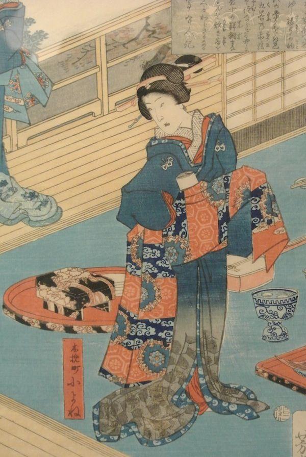 Utagawa Yoshiiku – #Giappone, XIX sec. Autore: #Utagawa #Yoshiiku (1833 – 1904). Dim (h) 38 cm. More info:  Website: www.arte-orientale.com Email: arteorientale.bo@gmail.com