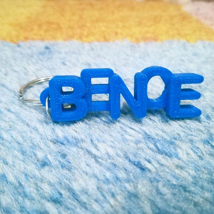 Bence's 3D printed letter keychain.  #3dprints #3dprinted #keychain #keyring #kulcstartó #bence