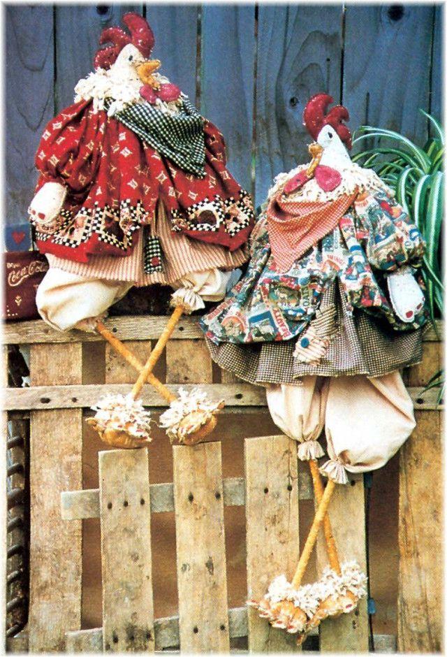 "Chicken Sewing Pattern | ... "" Primitive Muslin Chicken Dress Bloomers Sewing Pattern Uncut | eBay"