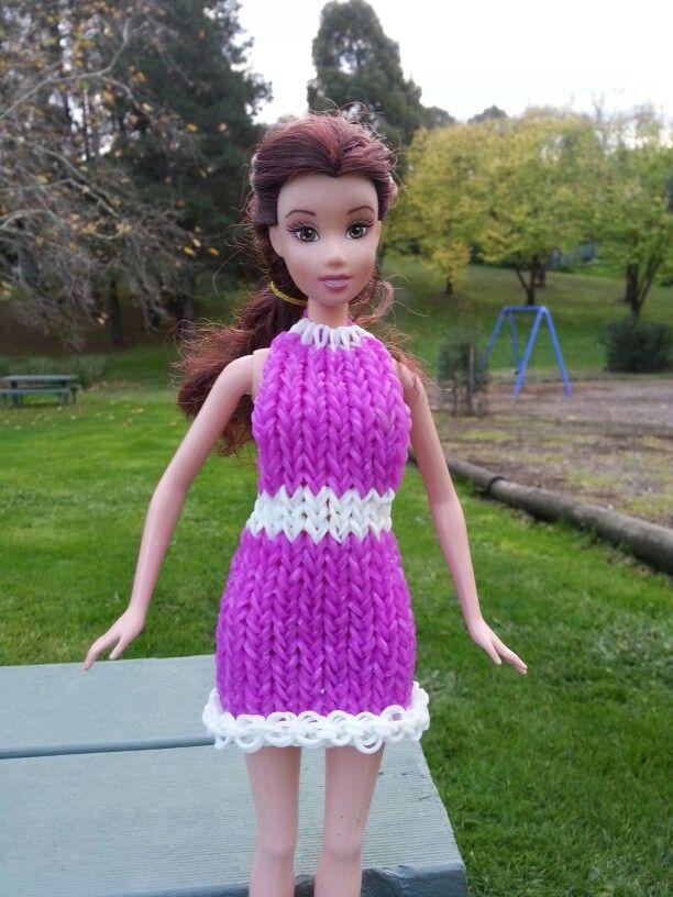 loom bands barbie dress