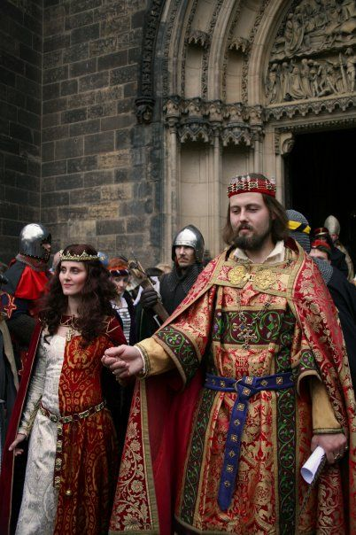 My gothic costume 14th Century- coronation of Blanche de Valois and Charles IV