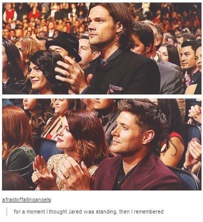 "HAhAHA ""THOUGHT JARED WAS STANDING""!!!"