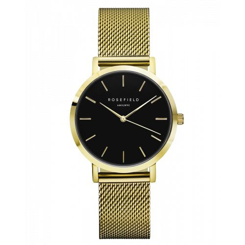 Tribeca Gouden Dameshorloge - Gouden Mesh Band | ROSEFIELD WATCHES