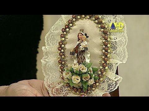 Sabor de Vida Artesanatos | Escapulário de Porta por Bete Ribeiro - 25 de Maio de 2014 - YouTube