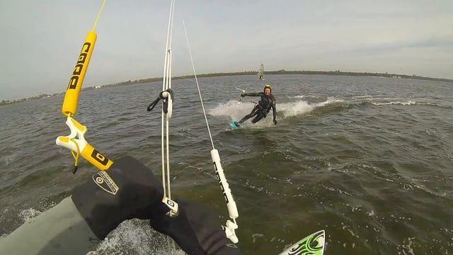 Kitesurfing, Hel, Małe Morze, in Poland, Chałupy, Cabrinha, Gopro HD, kitesurf, kiteboard, Core Kite, Kite, Core Riot, Cabrinha S-Quad, wave board
