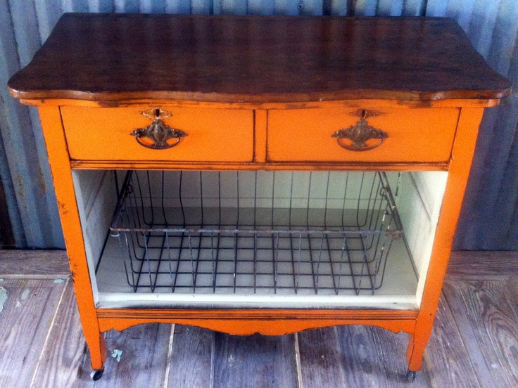 repurposed orange chest by a to z custom creations