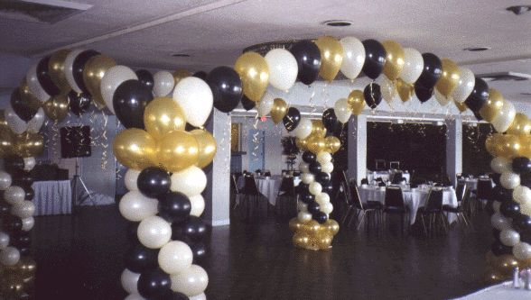 black and gold party favors black and gold 4 pillar arch. Black Bedroom Furniture Sets. Home Design Ideas