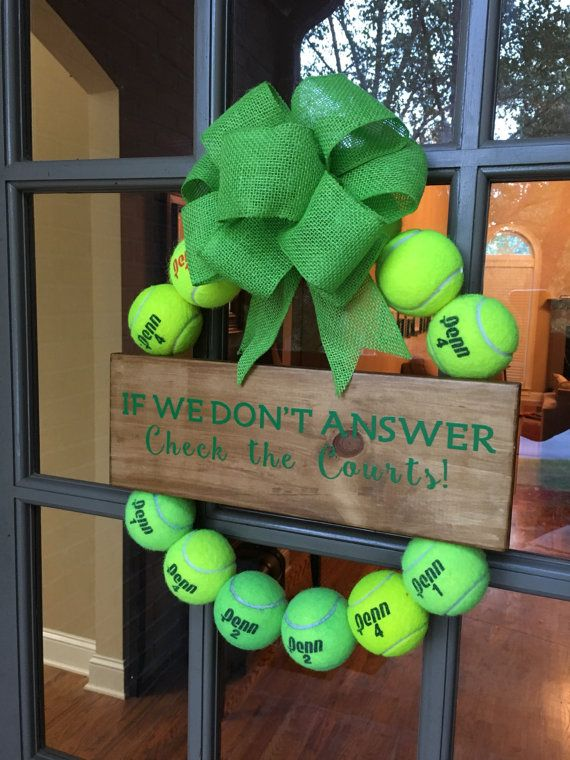 Tennis Ball Wreath by BennettLeeDesign on Etsy