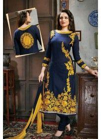 Latest Fancy Blue Dress Material..
